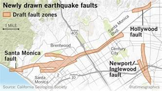 earthquake fault maps for beverly santa and