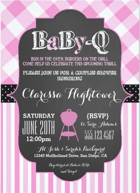 free baby q invitations templates 30 barbeque invitation templates free sle exle