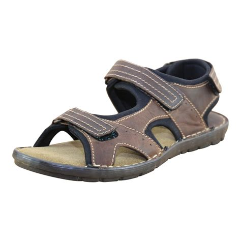 walking sandals mens leather brown rip sandals sports
