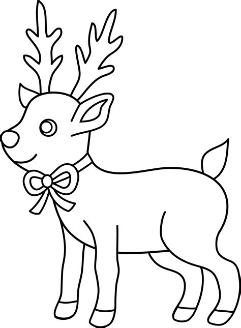 clipart christmas coloring page christmas reindeer coloring page free clip art