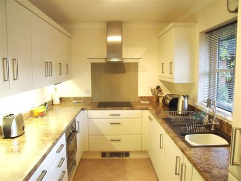 galley type kitchen kitchens in andover at saxon designs weyhill andover