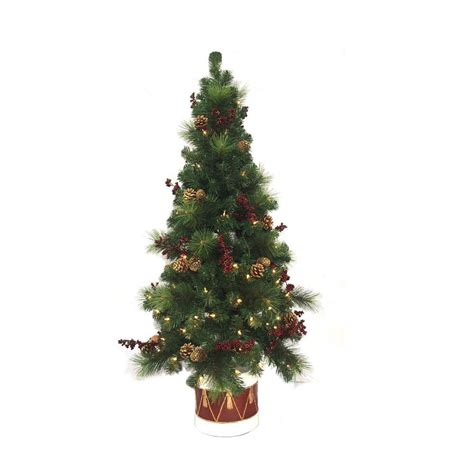 tree in lighted pot potted trees buy potted tree santa s site