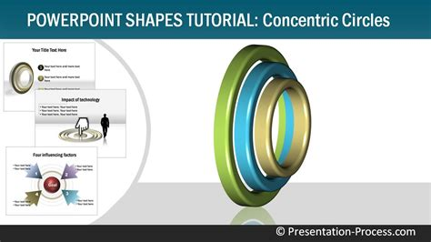 tutorial for powerpoint how to create 3d concentric circles powerpoint shapes