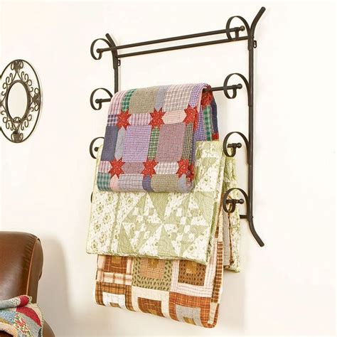 Quilt Display Hanger by Scrolled Metal Quilt Rack Quilting Board