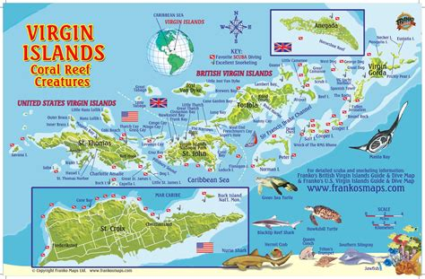 map usvi map of us and islands 8 sailing in the bvi