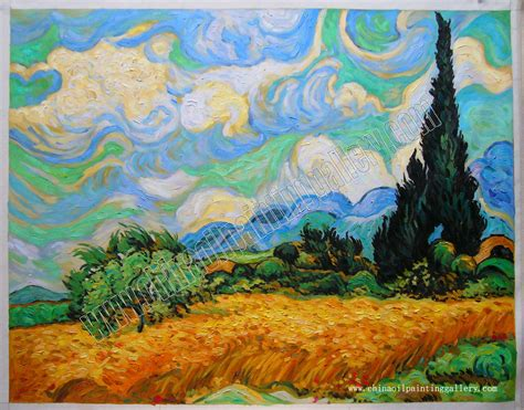 Sepatu Canvas Series Gogh 100 Best Quality wheat field with cypresses at the haute gallinle near eygali gogh painting