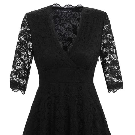 3 4 Sleeve Lace A Line Midi Dress lace 3 4 sleeve cocktail wedding
