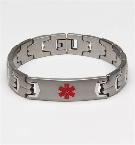 Durable Stainless Steel Medical Alert Bracelets