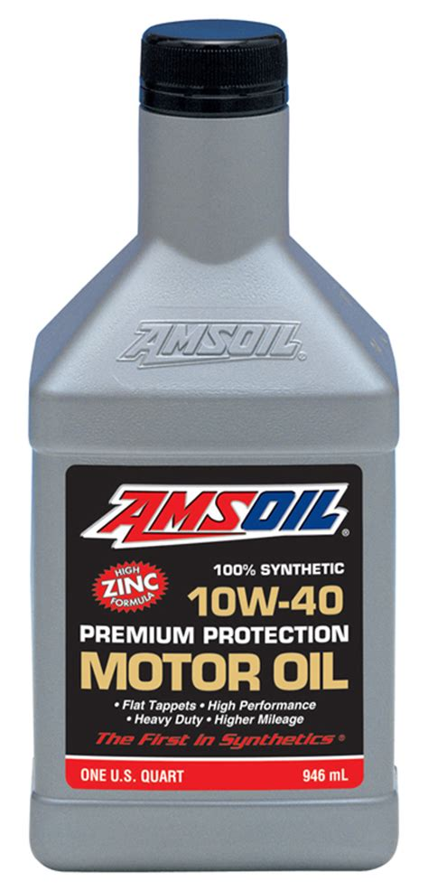 AMSOIL 10W 40 Synthetic Premium Protection Motor Oil (AMO)
