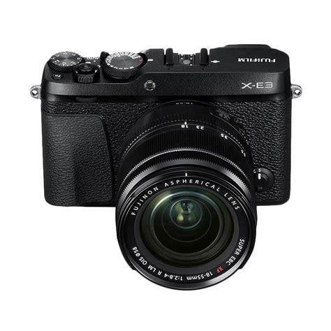 Fujifilm X E3 Black Kamera Mirrorless Kamera Fuji Limited jual fujifilm x e3 kit 18 55mm r lm ois kamera mirrorless black harga kualitas