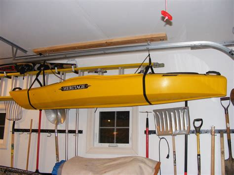 Kayak Garage Hoist by Kayak Addiction Start Kayaking