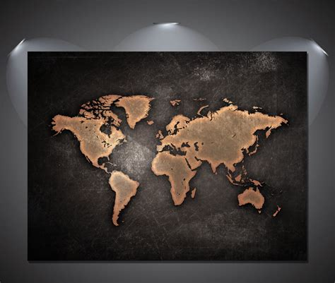 World Map 3 A0 vintage world map black poster a0 a1 a2 a3 a4 sizes