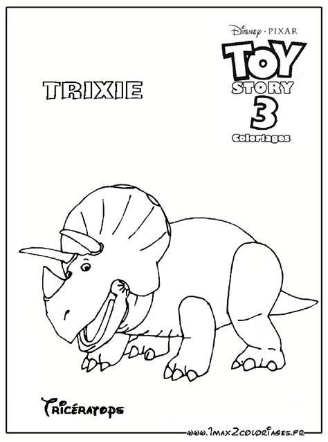 Coloriages Toy Story 3 Trixie Le Tric 233 Ratops Story 3 Colouring Pages