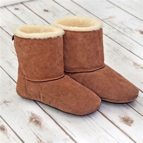 slipper boots sheepskin slipper boots