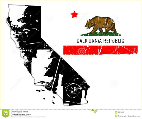california map flag grunge california map with flag stock vector image 8510639