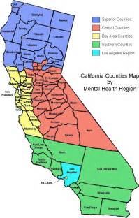 map of california with counties california counties images