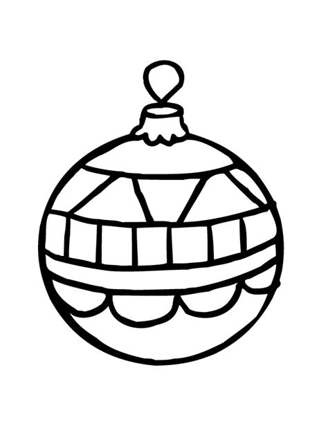 christmas ornament outlines printable ornaments coloring pages getcoloringpages