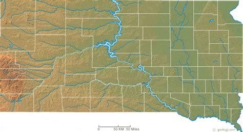 physical map of dakota south dakota physical map and south dakota topographic map
