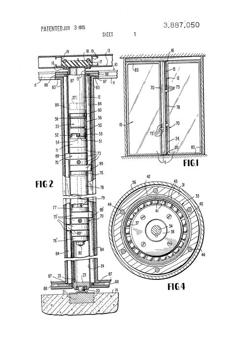 revolving door section patent us3887050 gearing with centrifugal brake for