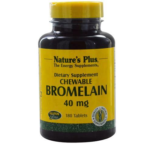 Suplemen Bromelain nature s plus bromelain chewable 40 mg 180 tablets