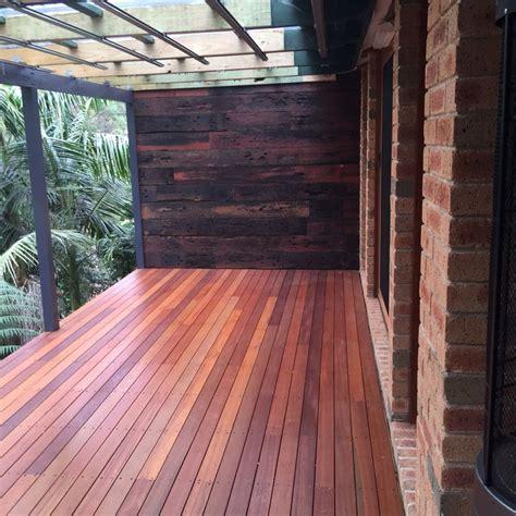 recycled railway sleeper feature wall reclaimed wood