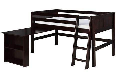 Size Low Loft Bed With Desk by Camaflexi Size Low Loft Bed With Retractable Desk