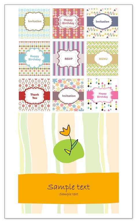 clipart greeting card template birthday invitation in vector gallery invitation sle