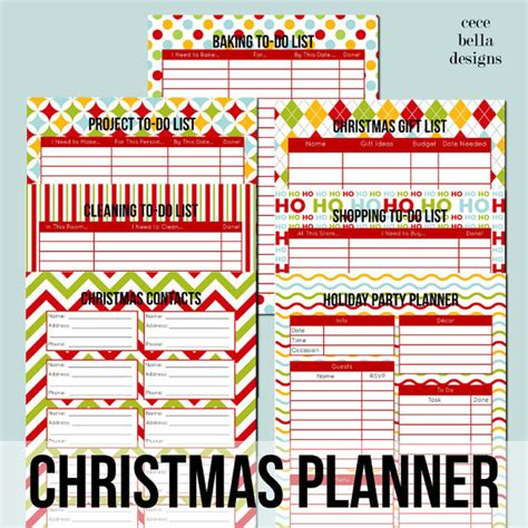 printable holiday organizer organizing tools to keep you on track during the holidays