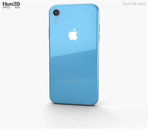 apple iphone xr blue 3d model electronics on hum3d