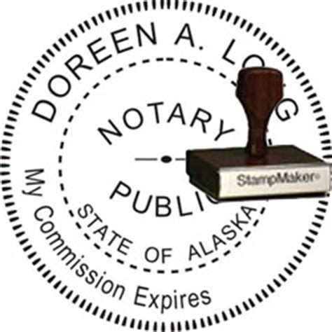 notary rubber st notary seal wood st alaska thestmaker