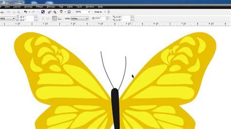 coreldraw tracing tutorial pen tool tracing coreldraw tutorial butterfly in