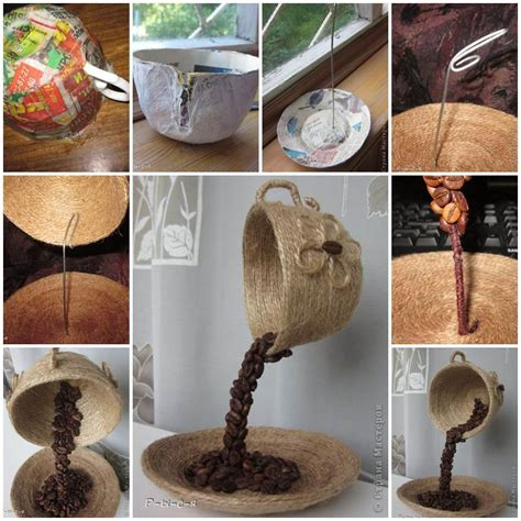 homemade home decor diy unique table decor with coffee beans