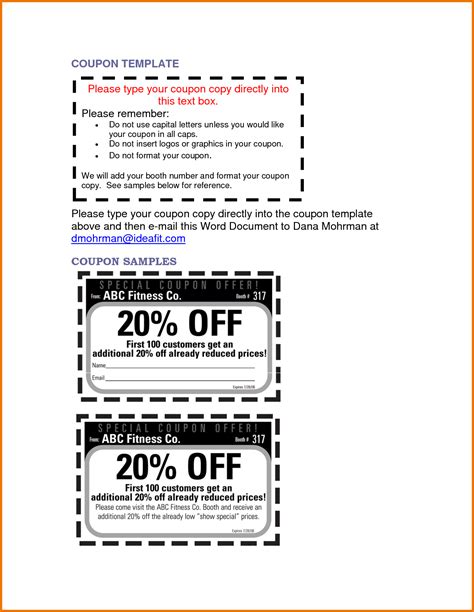 Microsoft Office Coupon Template Portablegasgrillweber Com Microsoft Coupon Template