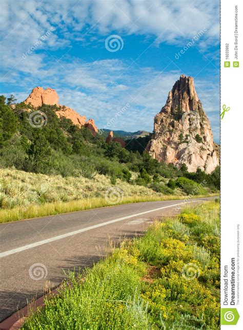 Garden Of The Gods Road Road Through Garden Of The Gods Stock Photography Image