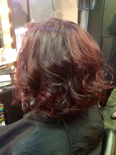 voted best hair dye wavy hair bob red violet color emerald city hair studio