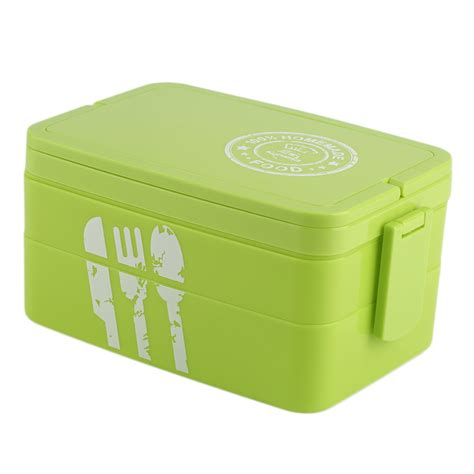 Lunch Storage Containers Plastic Picnic Bento Lunch Box Lock Food Container
