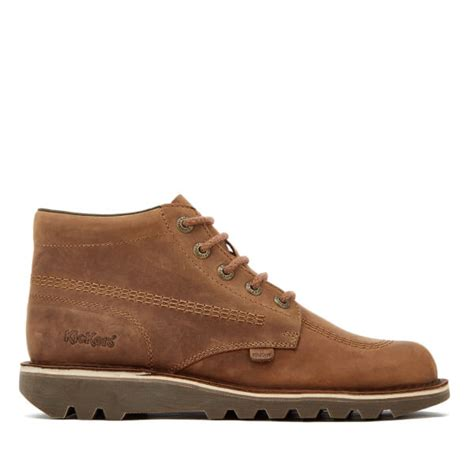 kickers boots high brown kickers s kick hi leather boots brown clothing