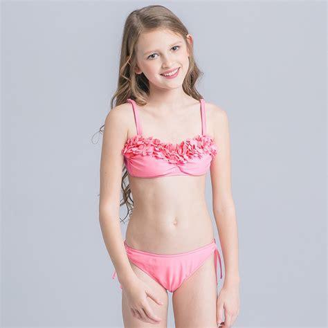 child girl swimwear bikinis new cute cloth flower teen girl bikini swimwear irder
