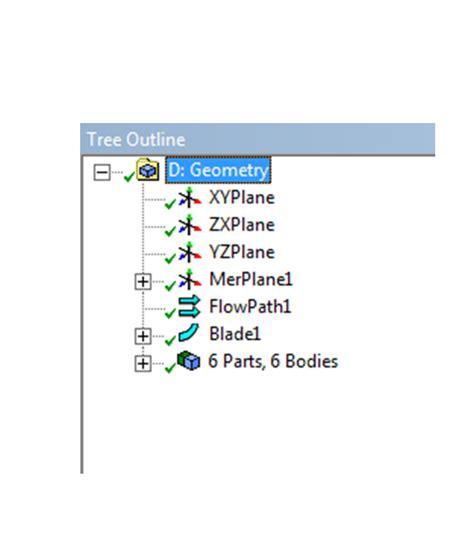 designmodeler blade editor cae technology vista tf tutorial v14 5