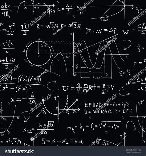 pattern in mathematics using algebraic concepts seamless background math formulas graphics on stock vector