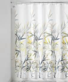 gray shower curtains yellow gray anzu shower curtain zulily