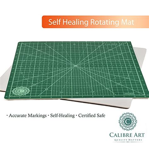 Rotating Cutting Mat For Quilting by Calibre Rotating Self Healing Cutting Mat For