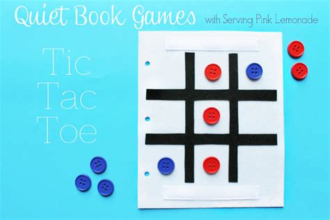 no sew book templates simple book series tic tac toe u create