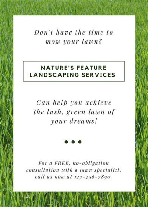 landscaping flyers templates landscaping flyer templates canva