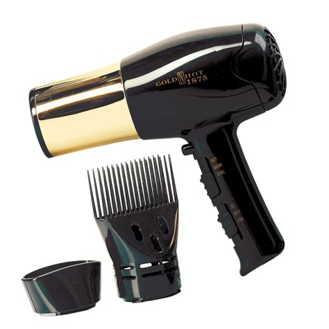 Sally Supply Portable Hair Dryer gold n dryer with gold barrel and styling pik