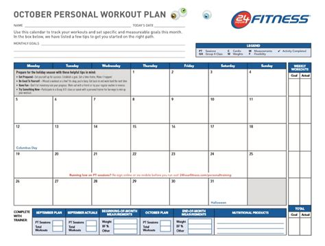 professional workout template format excel word and pdf