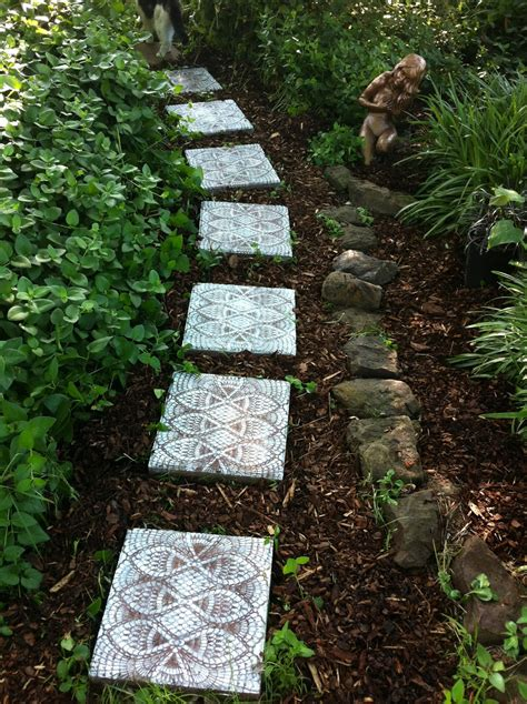backyard stepping stones mindful matters how to make lace like stepping stones