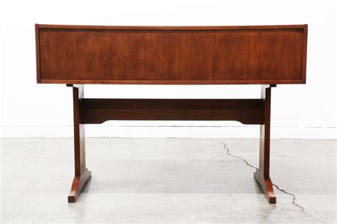 mid century modern walnut writing desk vintage supply store