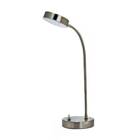 metal desk l shade shop utilitech 13 25 in adjustable stainless steel led