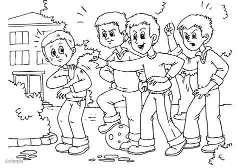 imagenes para colorear bullying dibujo para colorear a01 pelea acoso escolar img 25951